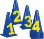 Markierungskegel-Set mit Zahlen, 23 cm