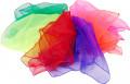 10 Chiffon-Tücher in 10 Farben, 140 x 140 cm